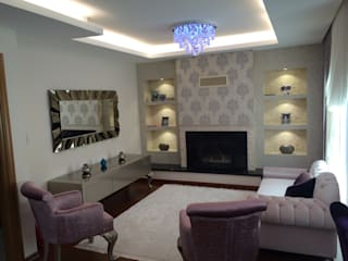 Living room by HEBART MİMARLIK DEKORASYON HZMT.LTD.ŞTİ.