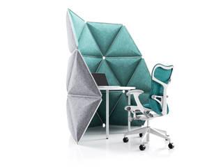 Kivo. Visual space frames with optimized acoustic shielding.:  Bürogebäude von Alexander Lorenz (FORMKIND GmbH)