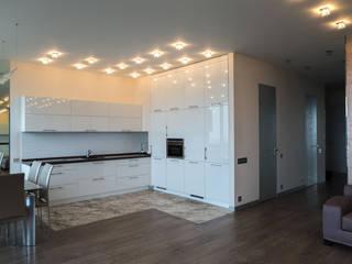 Квартира в ЖК Аэробус Кухня в стиле минимализм от JulyAlex Минимализм