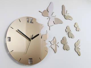 Kolekcja zegarów ściennych BUTTERFLY: styl , w kategorii  zaprojektowany przez ModernClock