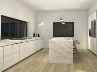 Villa unifamiliare Sydney_Australia_2013: Cucina in stile  di Valentina Cassader