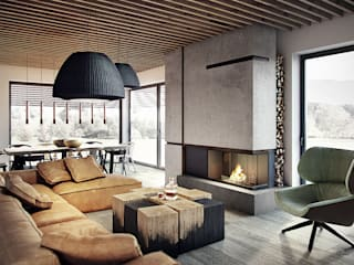 razoo-architekci Modern living room