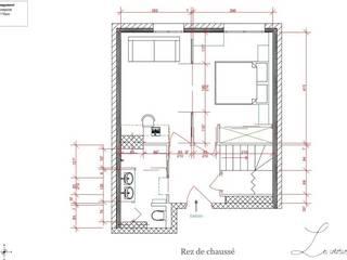 Plan du rez de chaussé: Chambre de style  par Agence architecte intérieur Paris