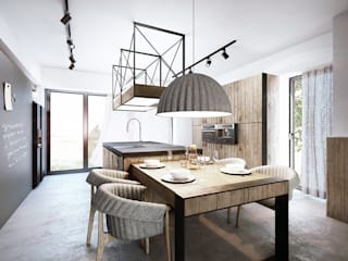razoo-architekci Industrial style kitchen