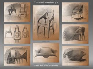 Chair and Sofa Design Studies: modern  von ThomasCleverDesign,Modern