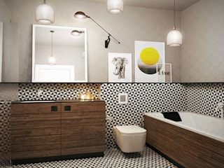 razoo-architekci Scandinavian style bathroom