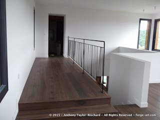 Mezzanine railing in mild steel Forge Art by A.T.R ระเบียง, นอกชาน