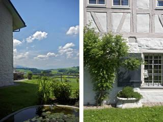 Riegelhaus in Hirzel Dr. Schmitz-Riol Planungsgesellschaft mbH Garten im Landhausstil