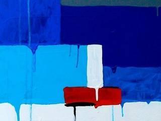 """""""Il mare sul retro I (sintesi)"""":  in stile  di Giuseppe Castelli - Artista"""