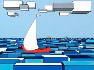 """""""Il mare sul rerto I"""": Arte in stile  di Giuseppe Castelli - Artista"""