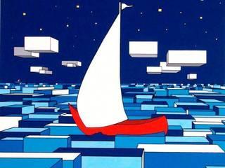 """""""Il mare sul retro IV"""" :  in stile  di Giuseppe Castelli - Artista"""