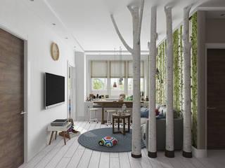 Скандинавский лес: Гостиная в . Автор – EEDS дизайн студия Евгении Ермолаевой,