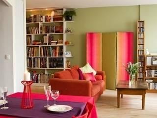 Appartement Laborderie Salon original par lara stancich interior design Éclectique
