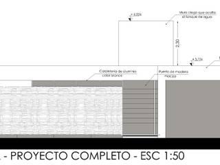 Fachada frontal: Casas de estilo minimalista por CALVENTE - TIÓN Arquitectas
