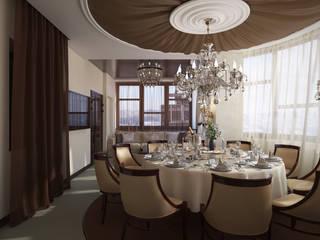 Проект 031: кафе-гостиная: Столовые комнаты в . Автор – студия визуализации и дизайна интерьера '3dm2', Классический