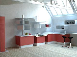 Ambientazione Cucina Modulare Cucina moderna di b.sign sas Moderno