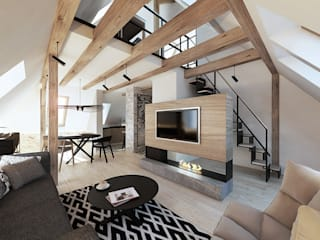 razoo-architekci Scandinavian style living room