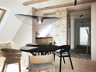 razoo-architekci Scandinavian style dining room