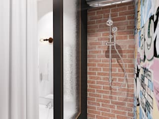 インダストリアルスタイルの お風呂 の Circle Line Interiors インダストリアル