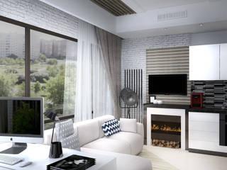 Скандинавский лофт Гостиная в стиле лофт от Дизайн-студия HOLZLAB Лофт