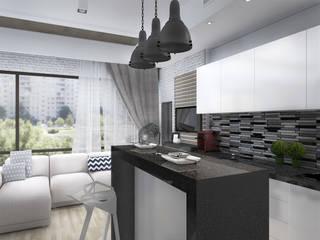 Скандинавский лофт Кухня в стиле лофт от Дизайн-студия HOLZLAB Лофт