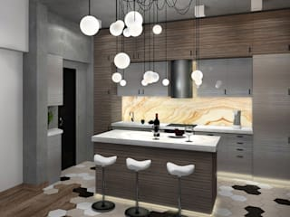Лофт с характером Гостиная в стиле лофт от Дизайн-студия HOLZLAB Лофт