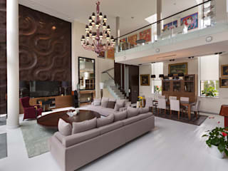 Villa Julia Kiev: Soggiorno in stile in stile Moderno di MG International