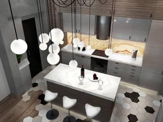 Лофт с характером Кухня в стиле лофт от Дизайн-студия HOLZLAB Лофт