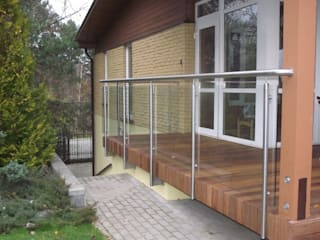 Terrace Stainless Steel Balustrade with Glass infills Inox City Ltd Terrace
