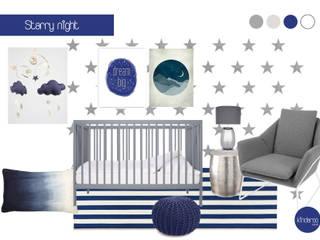 Baby boy nursery Modern nursery/kids room by Kinderoo Childrens Interiors Modern
