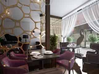 Locales gastronómicos de estilo  de MONTE FEE INTERIOR DESIGN STUDIO