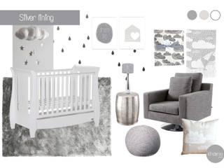 Silver lining nursery: modern Nursery/kid's room by Kinderoo Childrens Interiors