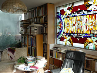 eclectic  by Catherine Nafziger - Atelier Kats Vitrail, Eclectic