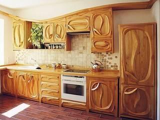 Falująca kuchnia: styl , w kategorii  zaprojektowany przez MW Pracownia Mebli Piotr  Wojtanowski