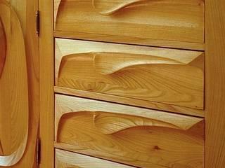 Falująca kuchnia - szuflady: styl , w kategorii  zaprojektowany przez MW Pracownia Mebli Piotr  Wojtanowski