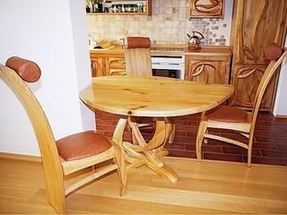 Jadalnia do falującej kuchni: styl , w kategorii  zaprojektowany przez MW Pracownia Mebli Piotr  Wojtanowski