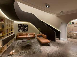 Corredores e halls de entrada  por Vieyra Arquitectos,