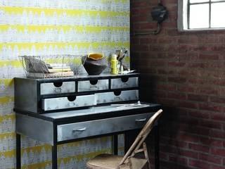 Dormitorios de estilo  por Papel Pintado Saint Honoré