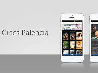 App Cines Palencia: Espacios comerciales de estilo  de GRUPO ANTENA