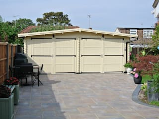 https://www.quick-garden.co.uk/wooden-garages-aluminum-carports/wooden-garage-600x600-double-44mm-36m.html: classic Garden by Quick garden LTD