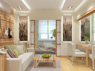Дизайн интерьера квартиры на Фрунзенской набережной в Москве Гостиная в стиле модерн от Никитин Артур Модерн