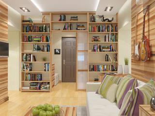 Дизайн интерьера квартиры на Фрунзенской набережной в Москве: Гостиная в . Автор – Никитин Артур
