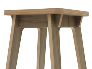 Timor Bar Stool: minimalist  by SOAP designs, Minimalist
