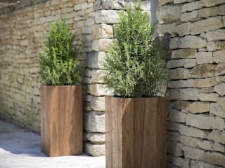 Teak Garden Planters , Cubes or Tall Squares:   by Ingarden Limited