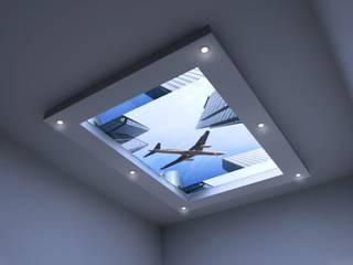 Świecący sufit: styl , w kategorii Sypialnia zaprojektowany przez Visual Design