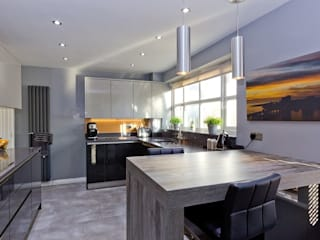 Contemporary Kitchen in Leeds at Rothwell Modern Mutfak Twenty 5 Design Modern