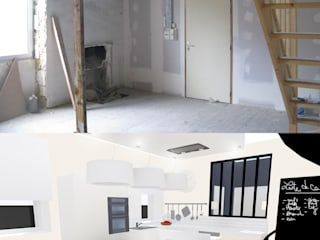 Кухня в стиле модерн от Uniq intérieurs Модерн