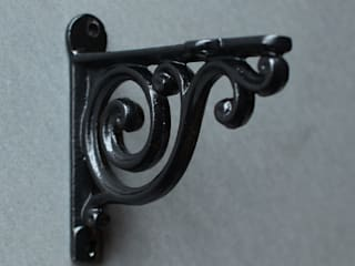 Cast Iron Shelf Brackets:   by Yester Home