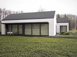 Dom podmiejski: styl , w kategorii Domy zaprojektowany przez zwA Architekci