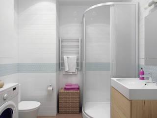 Квартира для молодой девушки: Ванные комнаты в . Автор – Ekaterina Donde Design,